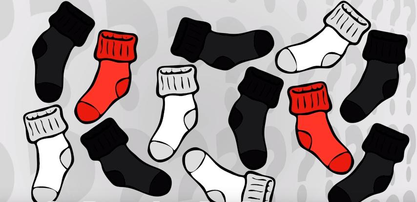 En pigeant à l'aveugle des chaussettes, combien de chaussettes faut-il piger au minimum pour être certain d'avoir une paire identique?