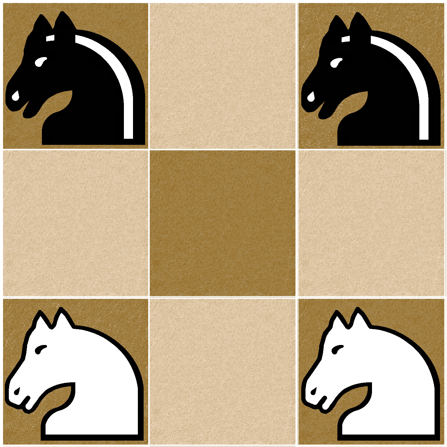 En sachant qu'un cheval au échec se déplace en