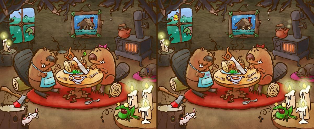 Combien de différences y a-t-il entre ces deux images?